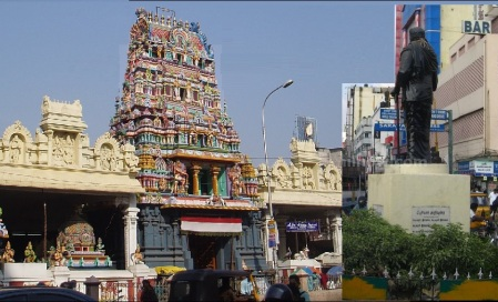 Usman Road Siva-Vishnu temple and EVR statue